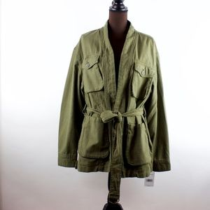 NEW Free People Green Utility Jacket Size Medium